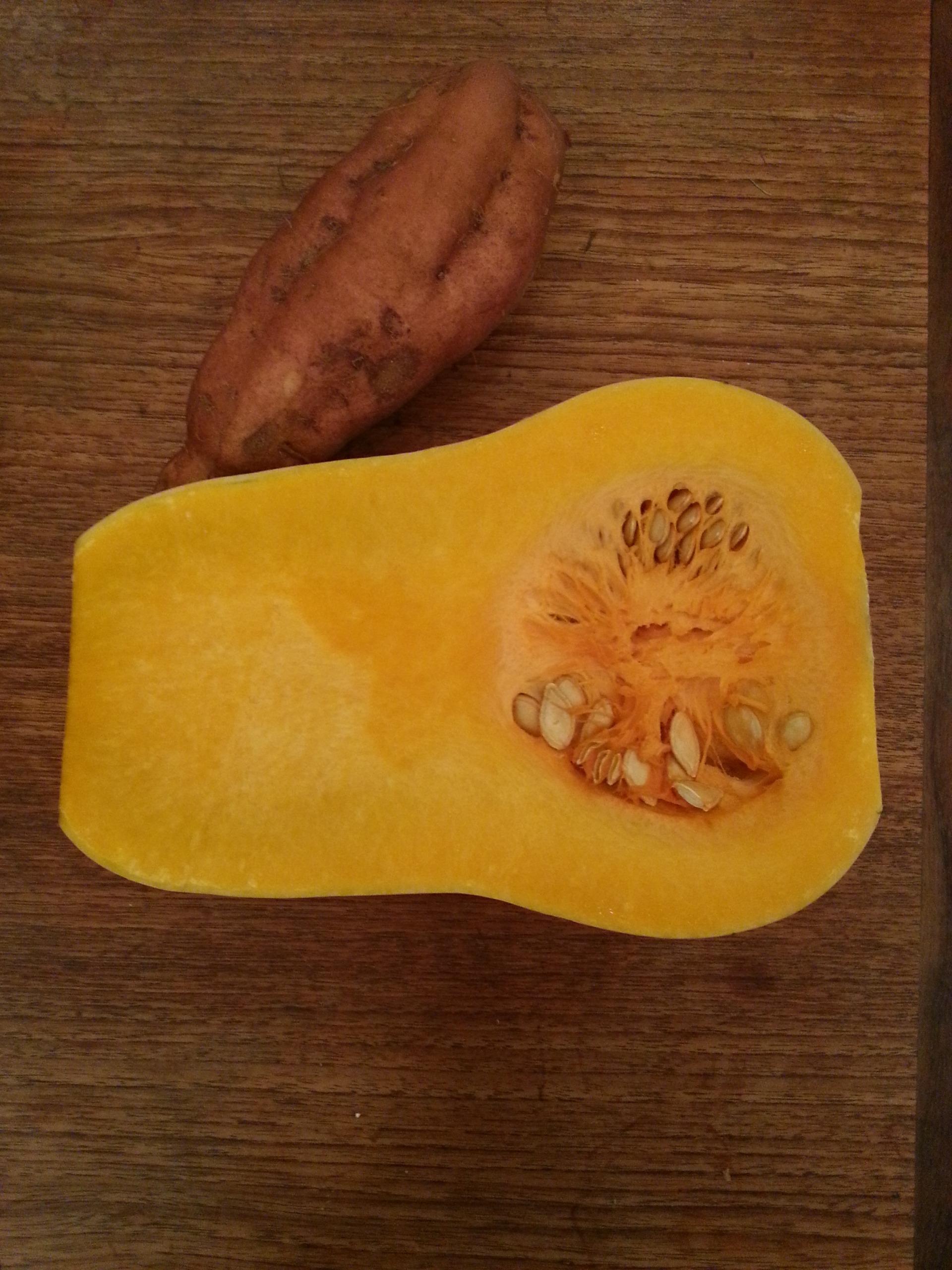 butternut sqash and sweet potato