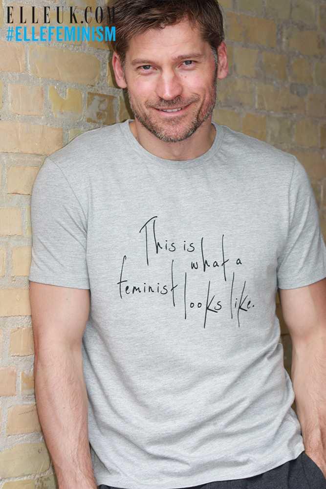Nikolaj-Coster-Waldau-Elle-Feminist-Shirt